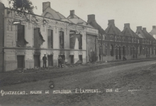 Uitgebrand huis van Mr. E. Lammens, Melle, Kwatrecht, 1914