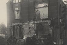 Uitgebrand kasteel van M. Lebegue, Melle, Kwatrecht, 1914