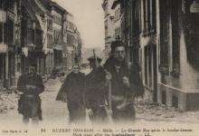 Hoogstraat na bombardement, Melle, 1914