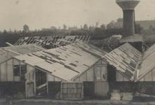Beschadigde serres, Melle, 1914