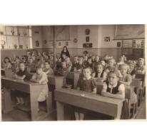 Klasfoto derde en vierde leerjaar, Sint-Lievens-Houtem, 1956