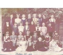 Klasfoto vijfde en zesde leerjaar, Sint-Lievens-Houtem, 1957