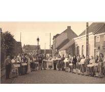 Feest van de bevrijding, Sint-Lievens-Houtem, 1945