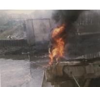Zicht op de Schelde bij de ingestorte brug, Melle, 1992