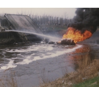 Uitbrandende tankwagen, Melle, 1992
