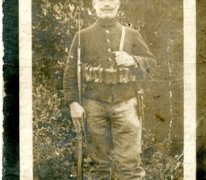 Bidprentje Jozef Van Steenberge, Sint- Lievens- Houtem, Oeren, 1917