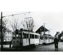 Elektrische tram, Merelbeke, 1955