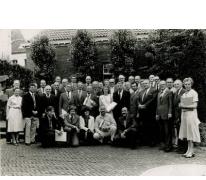 Koninklijke fanfare Sint-Martinus naar aanleiding van diploma gouvernement, Balegem, 1979