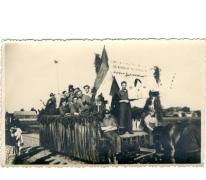 Bevrijdingsstoet einde WO II, Oosterzele, 1946