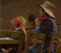 Marguerite Van Hecke tijdens de pikfeesten, 1979