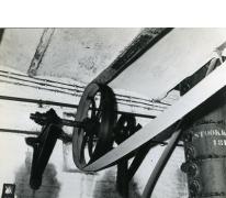Riemaandrijving stoommachine, stokerij Van Damme, Balegem, 1978