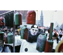Silveer Reunes tijdens carnavalsstoet, Merelbeke, 1980