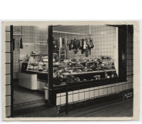 Slagerij aan café Drie Koningen, Merelbeke