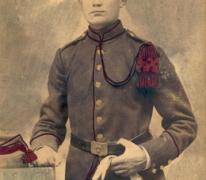 Portret van Rene Verliefde, soldaat in de Eerste Wereldoorlog