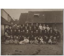 Familiefoto familie August Thibo, Merelbeke, 1927