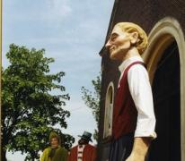 Reus De Muntenaar wordt voorgesteld aan het publiek, Merelbeke, 2001