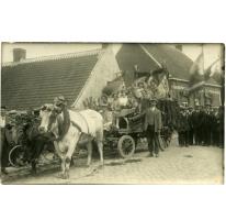 Wagen met vrouwen, viering 100 jaar België, Munte, 1930