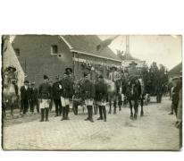 Wagen in stoet, viering 100 jaar België, Munte, 1930