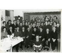 Groepsfoto van de kaartmaatschappij, Munte