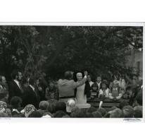 Inhuldiging beeld 'De Muntenaar, Munte, 1977