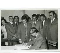 Handelsbeurs opening, 1969.