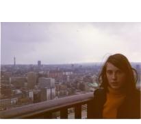 Gemeenteraadslid Marijke Pruyt op schoolreis, Londen, 1975