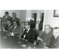 Handelsbeurs. Ontvangst op het gemeentehuis, 1970.