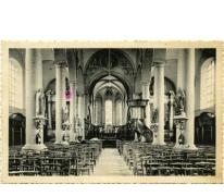 Interieur van de Sint-Michaëlkerk, Sint-Lievens-Houtem