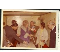 Feestelijkheden ter gelegenheid van het bezoek van 'Miss Amerika' in café De Roskam, Merelbeke, 1970-1975