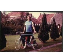 Martin Moerman met zijn koersfiets, Merelbeke, 1978