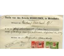 Ontvangstbewijs van de afbetaling van een hypothecair krediet, Merelbeke, 1930