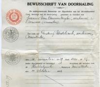 Bewijsschrift van doorhaling van een hypotheek, Merelbeke, 1932