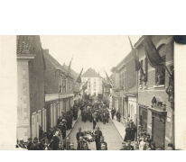 Begrafenisstoet vermoorde politiecommissaris Gentil Demeyer te Melle, 1920