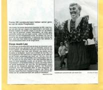 Krantenartikel inhuldiging reuzin Lea, Landskouter, 2010