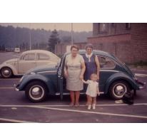 Volkswagen kever en Adrienne Spillier, Merelbeke, 1970