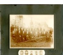 Groepsfoto oudstrijders (?), Moortsele, 1918-1925