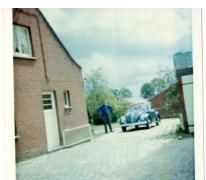 De groene Volkswagen Kever van Adrienne Spillier, Merelbeke, 1965