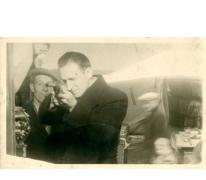 Schietkraam op kermis, Sint-Lievens-Houtem, 1950