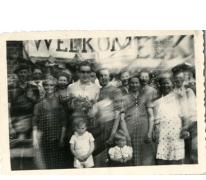 Verwelkoming Gustaaf Van Bever, Sint-Lievens-Houtem, 1945