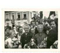 Houtemnaren verwelkomen Gustaaf Van Bever, Sint-Lievens-Houtem, 1945