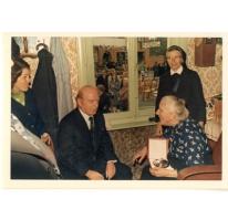 Viering 100-jarige met burgemeester, Vlierzele, 1976