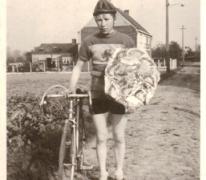 Marcel De Moor met overwinningspalm, Landskouter, 1948-1952