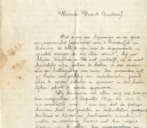 Brief geschreven voor terugkomst Gustaaf Van Bever, Sint-Lievens-Houtem, 1945