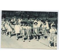 Klasgroep in de Livinusstoet, Sint-Lievens-Houtem, 1957