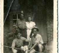 Thuiskomst Maurice D'Hond van leger, Sint-Lievens-Houtem, 1947