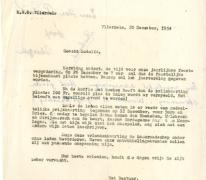 Brief naar de KWB leden voor de prijskaarting, Vlierzele, 1954