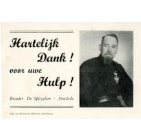 Bedanking van broeder De Spiegeleer, Vlierzele, 1955