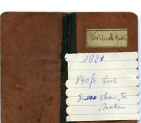 Loonboekje van steenbakker Gustave Westelinck, Merelbeke, 1921-1926