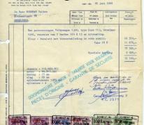 Factuur van de aankoop van een wagen, Merelbeke, 1966