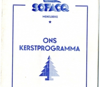 Kerstprogramma Sofacq, Merelbeke, 1957